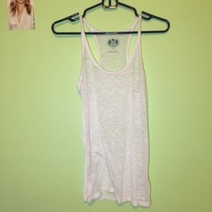 Juicy Couture sheer white small tank top